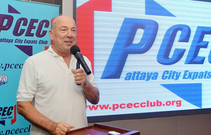 MC Roy Albiston conducts the PCEC's Open Forum where Expats have the opportunity to ask questions, give answers, or comment on Expat living in Pattaya.