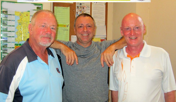 (L-R) Barry Elphick with Tom Herrington and Graham Buckingham.