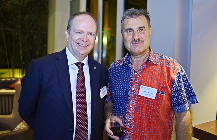 Dr. Stephen J. Anderson, Commercial Attaché at the American Embassy Bangkok, and Michael Miamente, director-Asia Operations at AAM.