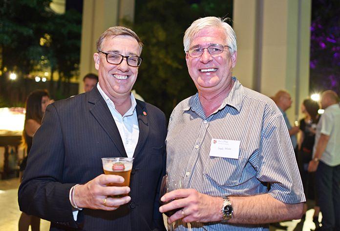 Richard Gamlin, resident manager at Amari Pattaya, and Frank Holzer, executive general manager at MHG.