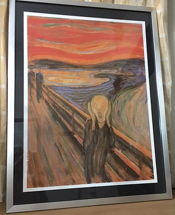 Auction item: Lithograph of Munch's 'The Scream'.