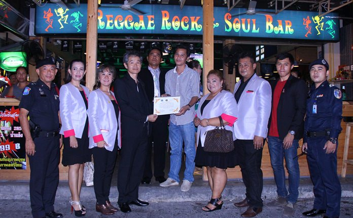"Establishments that donated to the Lions Club of Pattaya-Taksin and local Tourist Police Loy Krathong fund received a ""thank you"" certificate."
