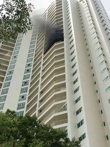 Fire in a Naklua condominium caused more than 500,000 baht in damage, but no serious injuries.