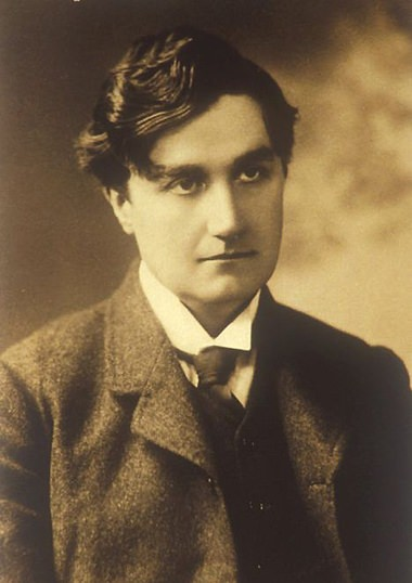 Vaughan Williams as a young man.