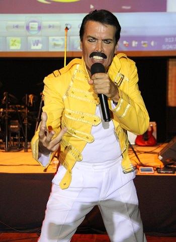 Paul Jackson wowed the crowd as Freddy Mercury.