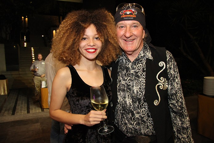 Budding superstar, talented young vocalist Henrietta Rhodes, shown here with proud father Richy Rhodes, was a hit with the crowd.