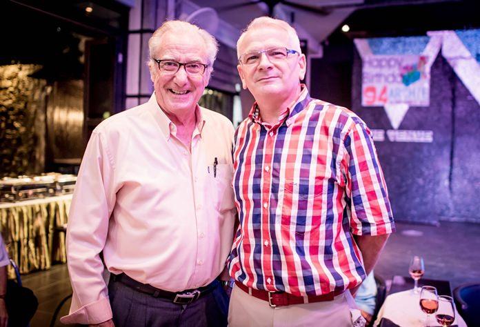 The elder statesmen, Dr. Iain Corness and Andrew J. Wood.