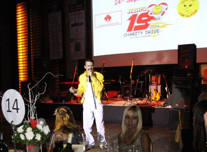 Paul Jackson as Freddie Mercury headlined the Jesters Care for Kids Charity year-end gala party at the Amari Pattaya. Truly an evening to remember, the event raised more valuable funds for the less fortunate children in and around Pattaya.
