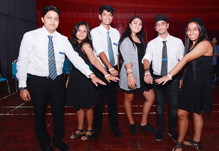 GIS's new Prefects display their one-of-a-kind Leadership wristbands.