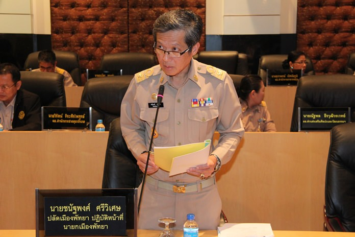 Chanatpong Sriviset, secretary of Pattaya and acting mayor proposed that the budget approval period should be expanded.