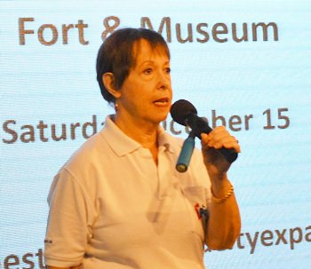 Member Judith Edmonds conducts the PCEC's Open Forum, where information is sought and given on Expat living in Pattaya.