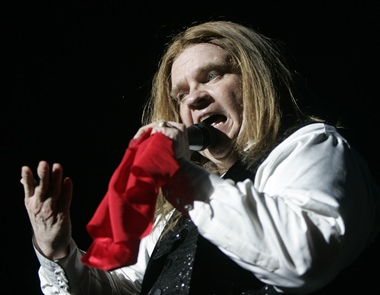 Rock star Meat Loaf is shown on stage in this June 12, 2007, file photo. (AP Photo/Kai-Uwe Knoth)