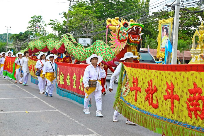 Lions and dragons took over the Eastern Seaboard as the annual Vegetarian Festival began in Pattaya and Sattahip. The streets were filled with parades on opening day, when thousands of residents promised to eat only vegetables ... at least until Oct. 10.