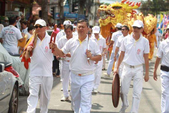 Many local leaders marched in the annual parade.