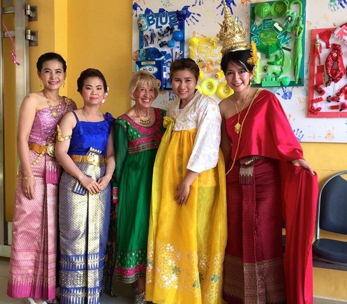 International spirit in rainbow colors.
