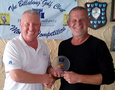 Freddy Starbeck (right) won the men's monthly medal at Green Valley.