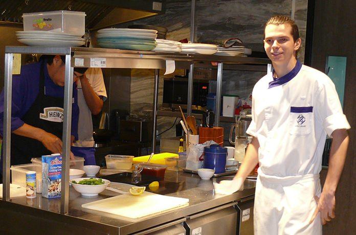 Chef Fredi in his kitchen.