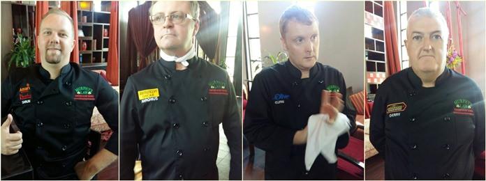 Clockwise from top left: Shaun Michael Venter (Executive Chef at Mantra restaurant), Magnus Flyborg (Oscar restaurant), Ewan Macglashan (Blue Olive restaurant) and Jerry Graham (Shenanigans Lake Side restaurant).