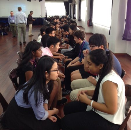 The day started with a 'speed dating' icebreaker.