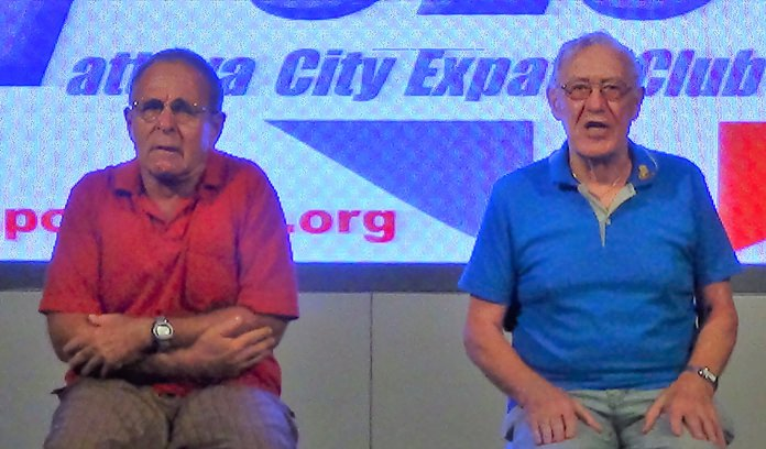 """Sheldon Penner as Sam McGee and Tweed Harris as his partner, gave an excellent presentation of the poem """"The Cremation of Sam McGee."""""""