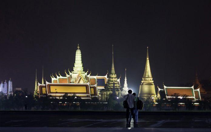 The remains of HM King Bhumibol Adulyadej will lie at the Temple of the Emerald Buddha, or Wat Phra Kaew, inside the ornate Grand Palace complex. No date has been set for the cremation. (AP Photo/Kittinun Rodsupan)