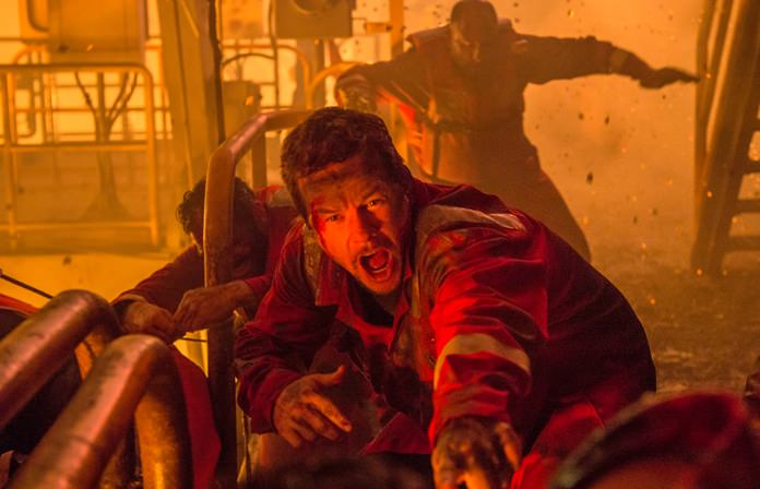 """This image shows Mark Wahlberg in a scene from, """"Deepwater Horizon."""" (David Lee/Summit via AP)"""