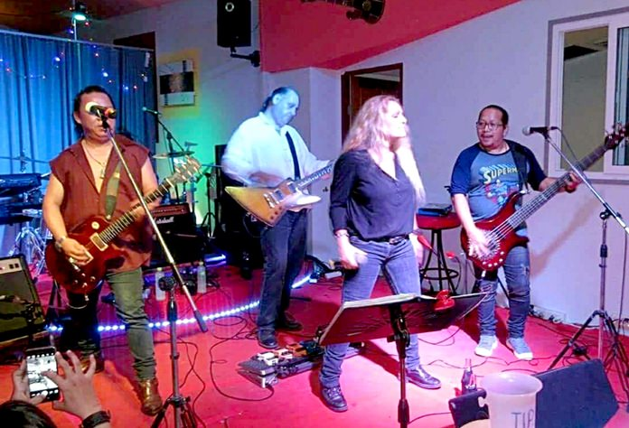 Pop's Pattaya All Stars/Band of Smiles rockin' it up at The Venue.