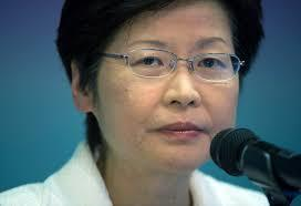 Hong Kong's acting chief executive Carrie Lam