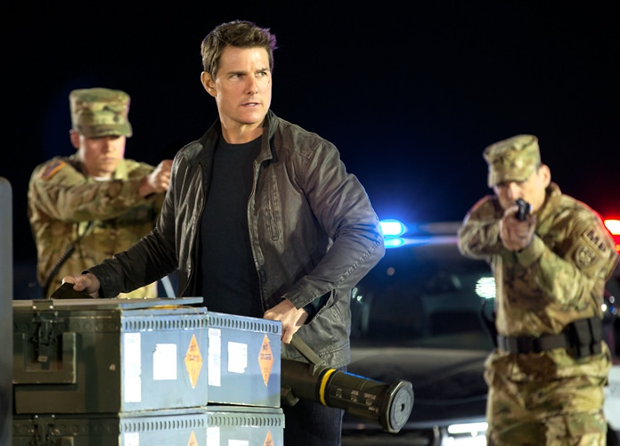 """Tom Cruise is shown in a scene from, """"Jack Reacher: Never Go Back."""" (Chiabella James/Paramount Pictures and Skydance Productions via AP)"""