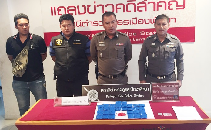 Police seized over 6,000 methamphetamine tablets and five grams of ice during an arrest in Pattaya.