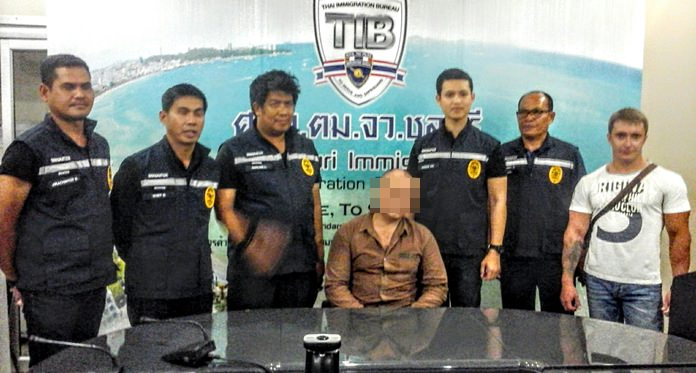 Viachesfav Fillippov, 47, was apprehended Oct. 28 by Chonburi Immigration officers.