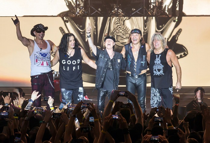 The Scorpions soak up the applause.