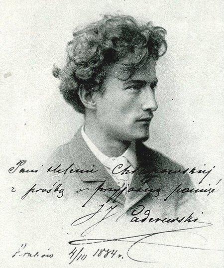 Ignacy Jan Paderewski at age twenty-four.