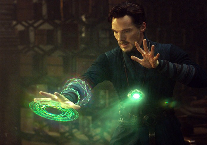 "This image released by Disney shows Benedict Cumberbatch in a scene from Marvel's ""Doctor Strange."" (Disney/Marvel via AP)"