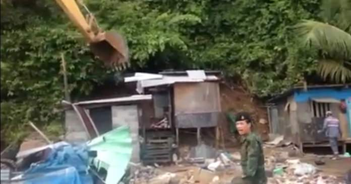 The military continues its campaign to reclaim public land by razing illegal shelters along Pratamnak Hill.