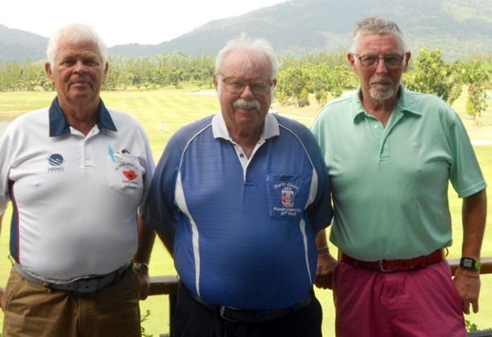 Elias Magnusson and Arne Max Pedersen with Dave Richardson.