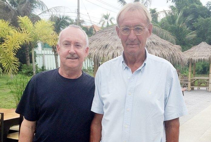 Willem Lasonder (right) with Stuart Banks.