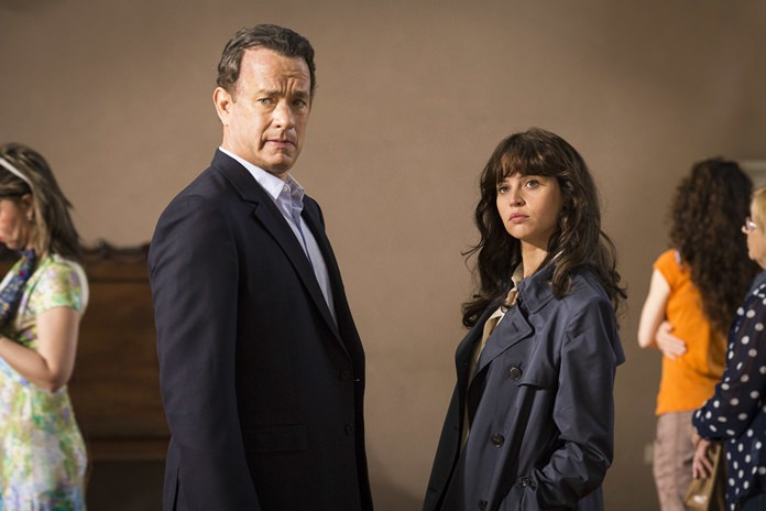 "Tom Hanks (left) and Felicity Jones are shown in a scene from, ""Inferno."" (Jonathan Prime/Sony Pictures via AP)"