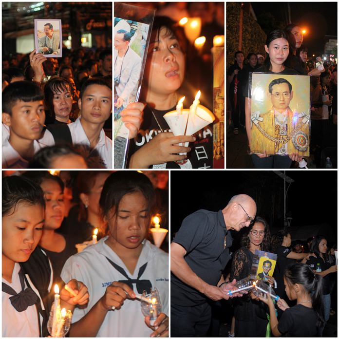 People from all walks of life came together to mourn and take the oath of allegiance to His Majesty King Bhumibol Adulyadej pledging to dedicate their lives in the service of the country.