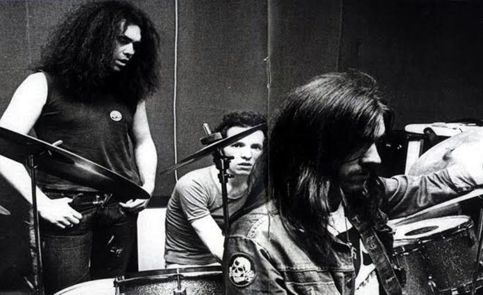 Early Motorhead (from left) Larry Wallis, Lucas Fox and Ian 'Lemmy' Kilmister.
