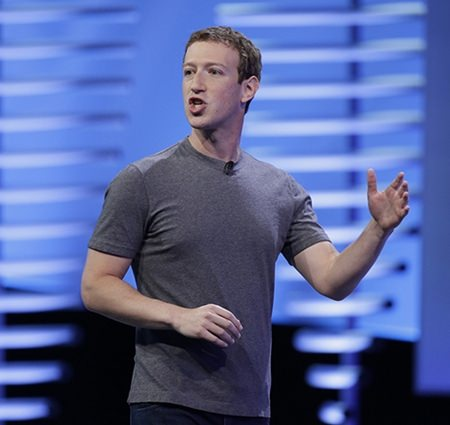 """In an interview Thursday, Nov. 10, 2016, with """"The Facebook Effect"""" author David Kirkpatrick, Facebook CEO Mark Zuckerberg said the idea that Facebook influenced the outcome of the U.S. election is a """"crazy idea."""" (AP Photo/Eric Risberg, File)"""
