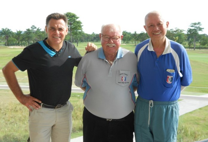 Denis Sabourin (left) and Kenny Chung (right) with Dave Richardson.