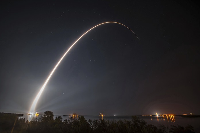 This photo provided by United Launch Alliance shows a United Launch Alliance (ULA) Atlas V rocket carrying GOES-R spacecraft for NASA and NOAA lifting off from Space Launch Complex-41 at 6:42 p.m. EST at Cape Canaveral Air Force Station, Fla., Saturday, Nov. 19, 2016. (United Launch Alliance via AP)