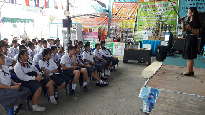 About 60 students learned the perils of illegal narcotics from Pattaya's award-winning anti-drug program.