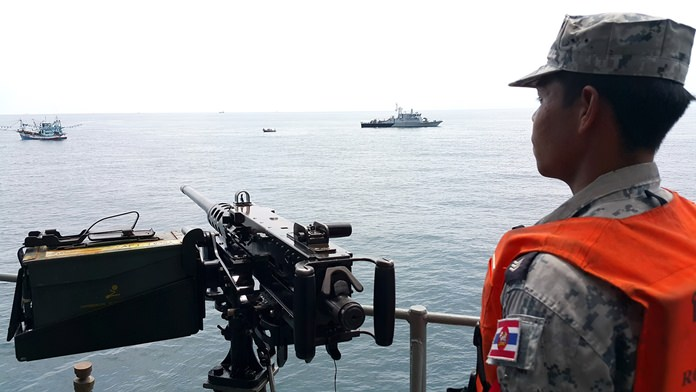 The Royal Thai Navy have launched new patrols to combat illegal fishing boats from Thailand and other countries.