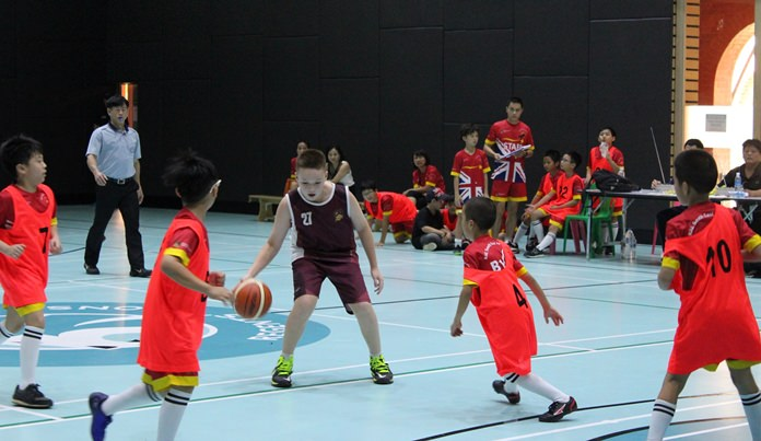 British International School Ho Chi Minh take on BVIS at basketball.