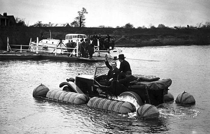 Amphibious car.