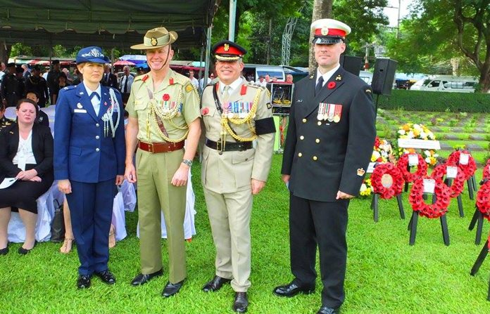 The Defence Attaches of UK, America, Canada and Australia.