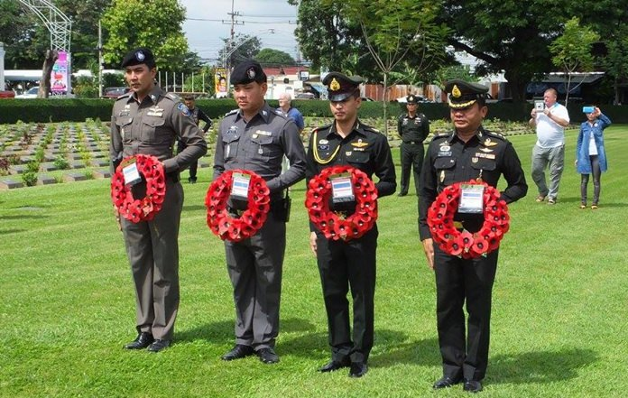 Thai Official pay their respects.