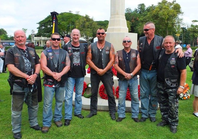 Some of the many Pattaya Riders who attended.